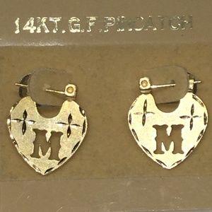 Jewelry - Vintage 14KT. G.F. PINCATCH DIAMOND CUT EARRINGS